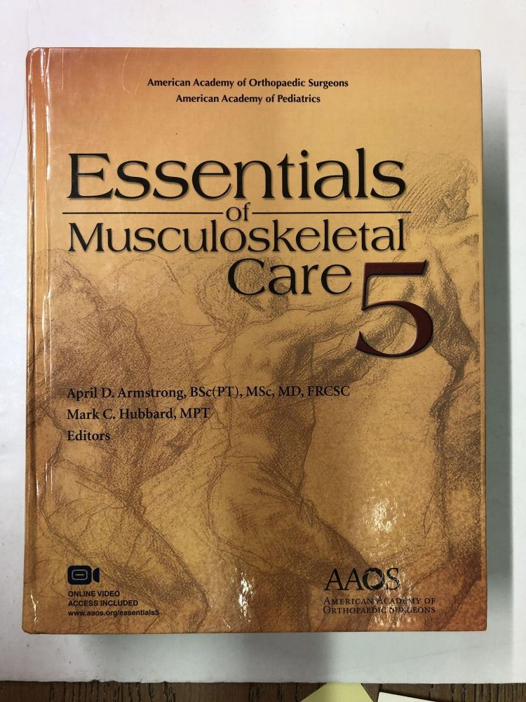 Essentials of Musculoskeletal Care, 5th Edition. American Academy of Orthopaedic Surgeons.