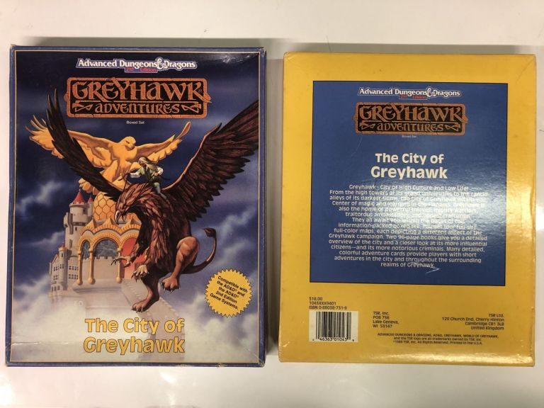 The City of Greyhawk (Advanced Dungeons and Dragons: Greyhawk Adventures) Boxed Set. Greyhawk TSR.