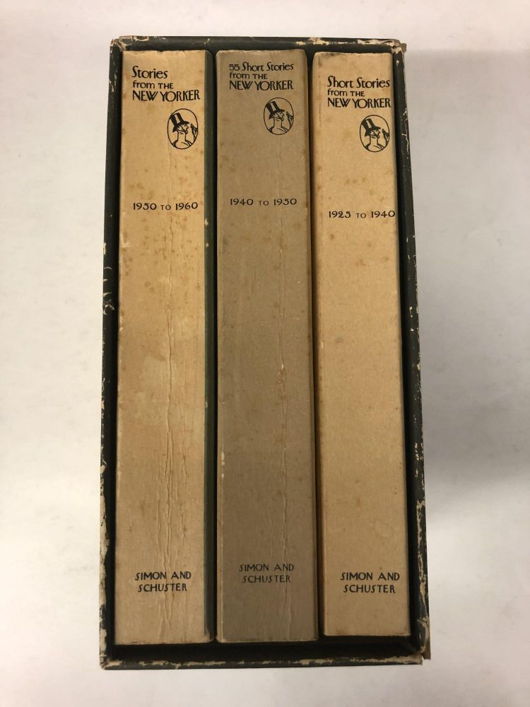 Stories From The New Yorker Three-volume Collection Box Set: 68 Stories that appeared in the magazine during its first 15 years (1925 to 1940); 25th anniversary volume with 55 short stories (1940 to 1950); 35th anniversary volume (1950-1960).