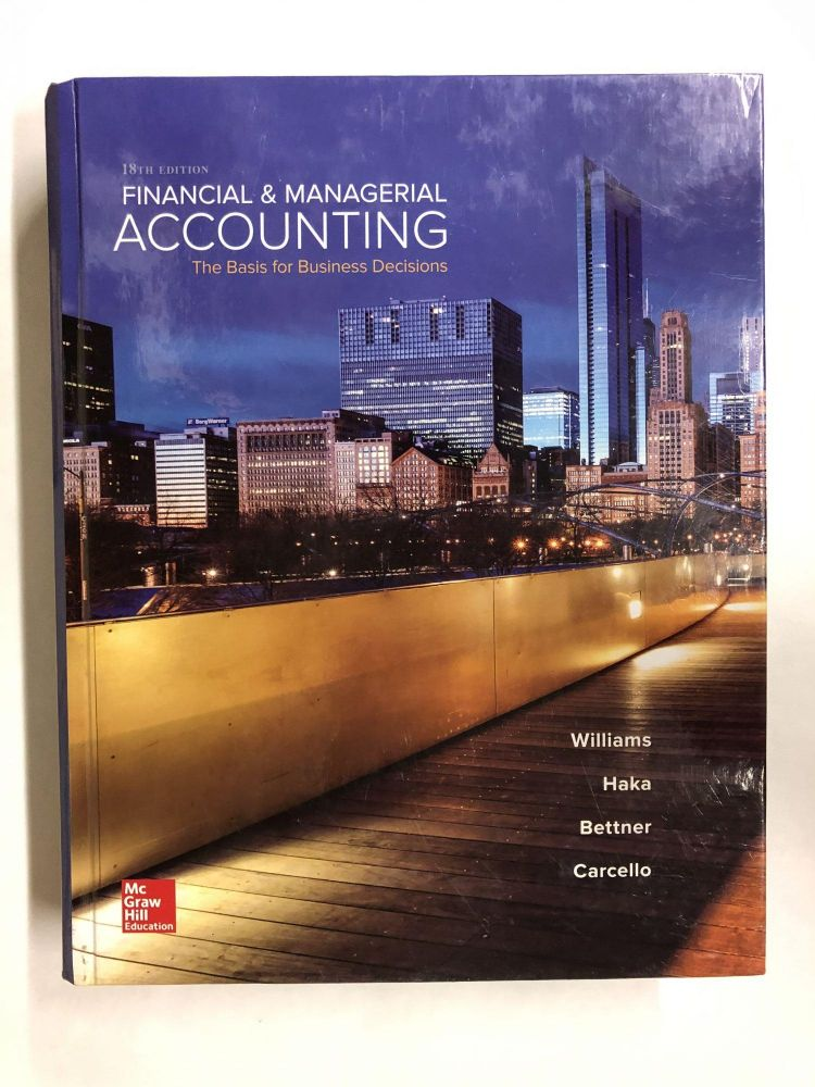 Financial & Managerial Accounting. Jan Williams.