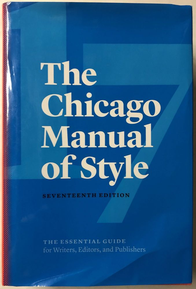 The Chicago Manual of Style. The University of Chicago Press Editorial Staff.