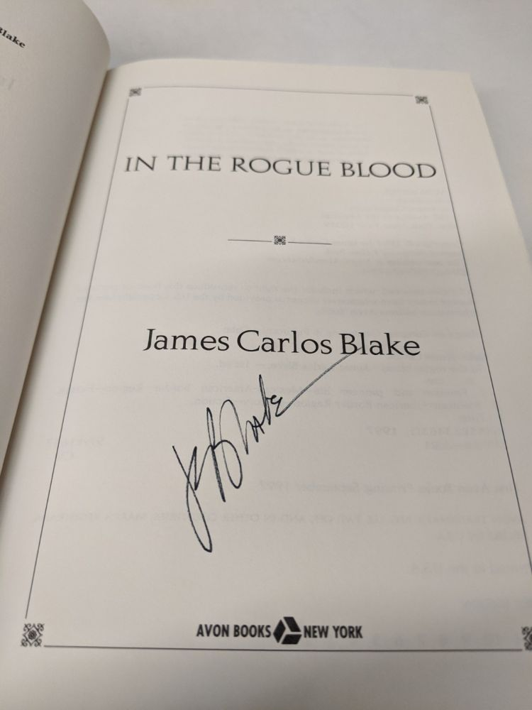 In the Rogue Blood. James Carlos Blake.