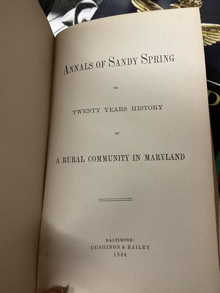 Annals of Sandy Spring