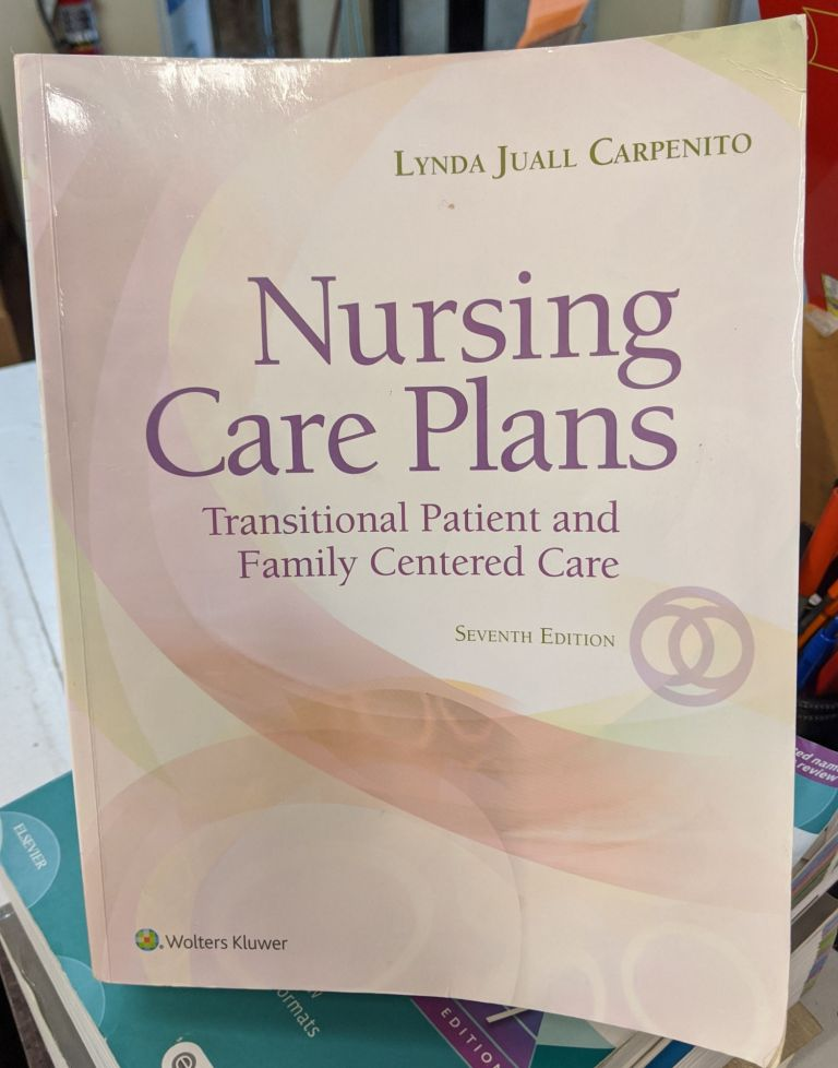 Nursing Care Plans: Transitional Patient & Family Centered Care (7th edition). Lynda Juall Carpenito.