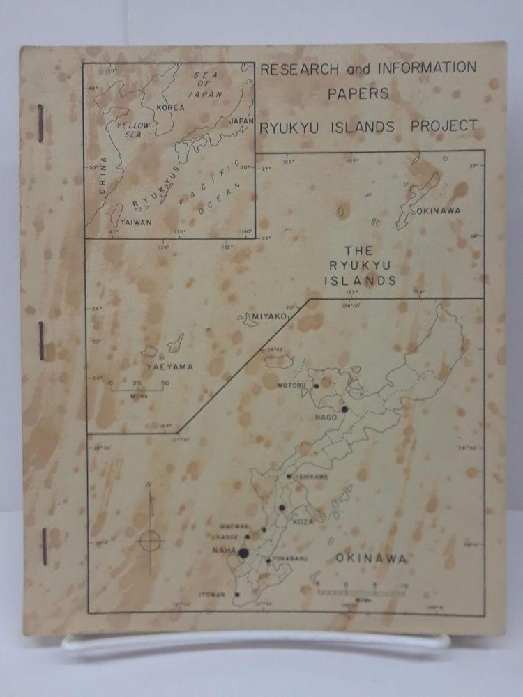 Ryukyu Islands Project: Research and Information Papers. Shannon McCune.