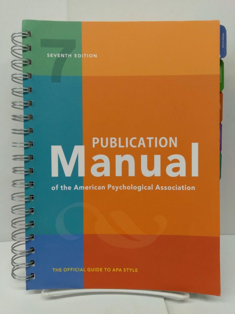 Publication Manual of the American Psychological Association. American Psychological Association.
