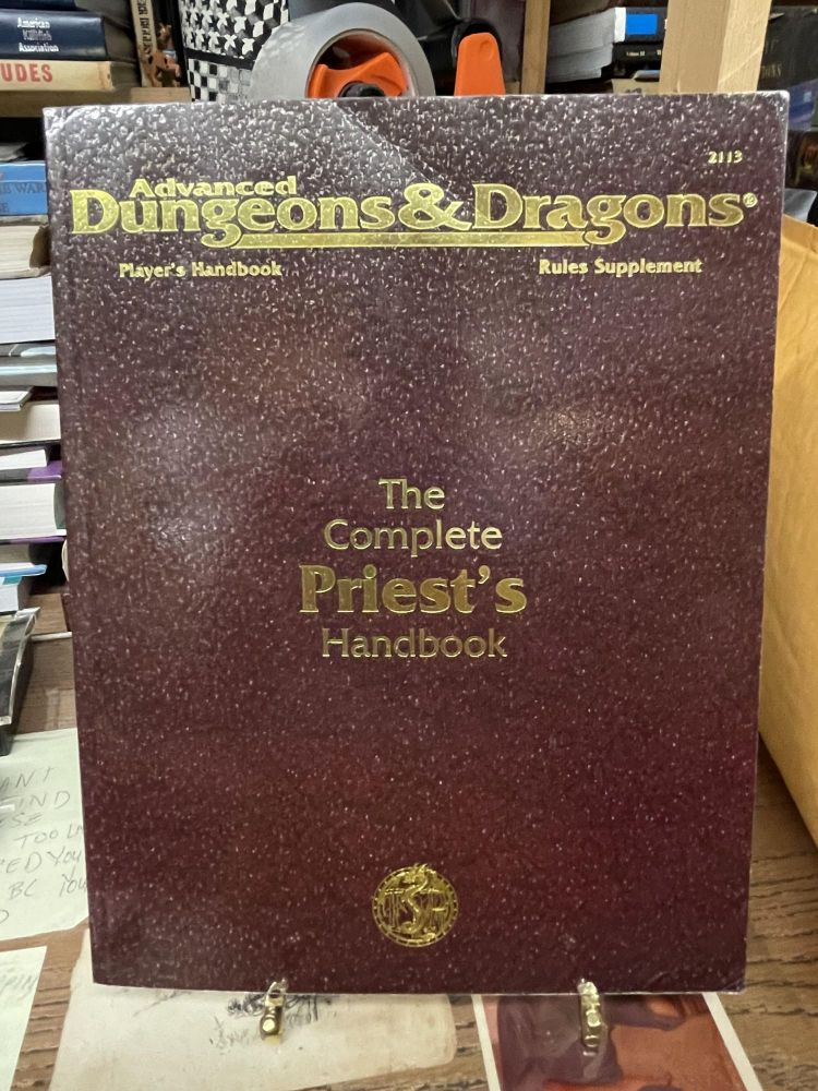 The Complete Priest's Handbook (Advanced Dungeons & Dragons Players Handbook Rules Supplement). Aaron Allston.