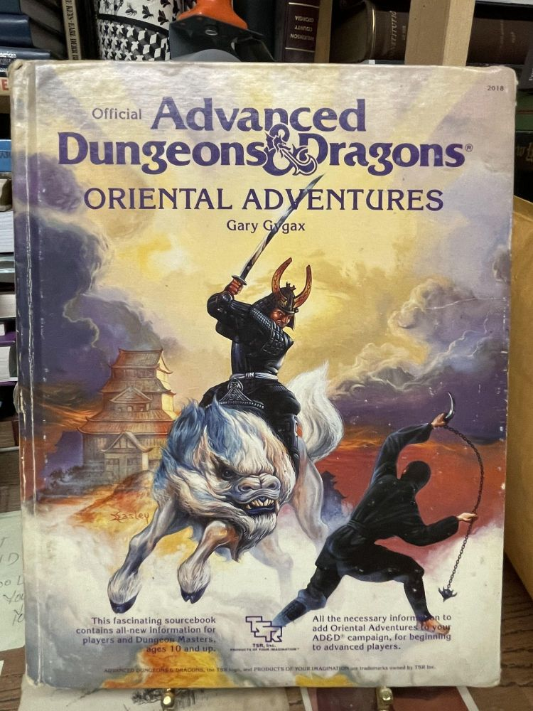Oriental Adventures (Official Advanced Dungeons & Dragons). Gary Gygax, David Cook, Francois Marcela-Froideval.