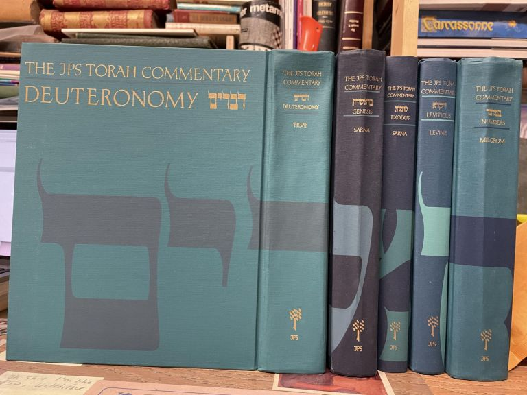 The JPS Torah Commentary: The Traditional Hebrew Text with the New JPS Translation (Five Volume Set). Jeffrey H. Tigay.