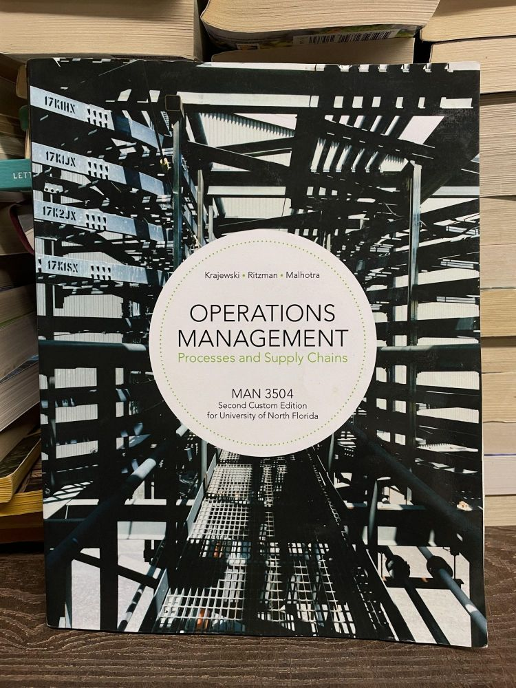 Operations Management: Processes and Supply Chains (Eleventh Edition)