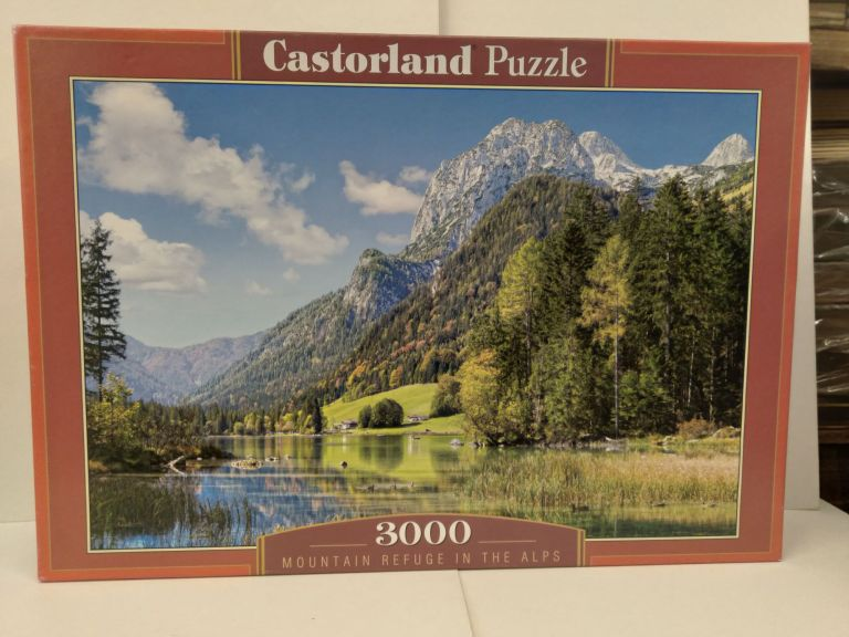 Castorland Puzzle 3000 Pieces: Mountain Refuge in the Alps