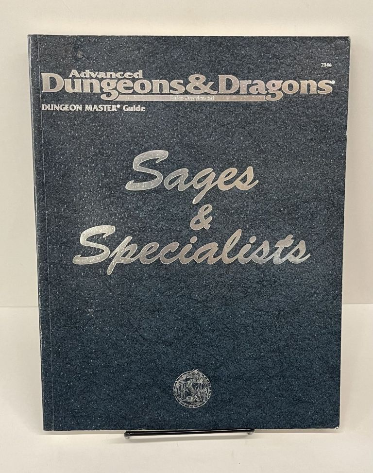 Advanced Dungeons, Dragons, Sages, Specialists.