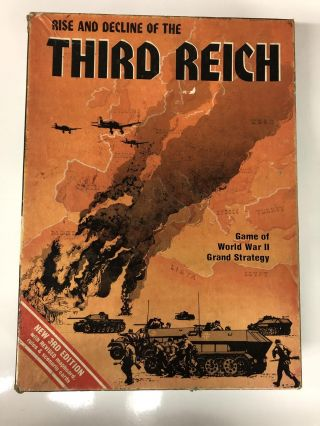 AH: Rise & Decline of the Third Reich, Game of WWII Grand Strategy, Board Game. AH Avolon Hill