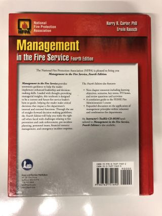 Management in the Fire Service 4th Edition