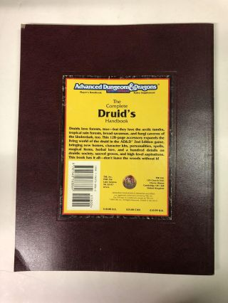 The Complete Druid's Handbook (Advanced Dungeons & Dragons 2nd Ed Rules Supplement)