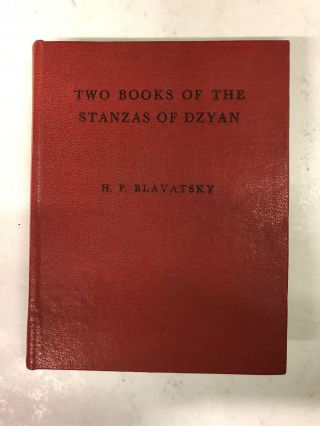 Two Books of the Stanza of Dzyan. H. P. Blavatsky