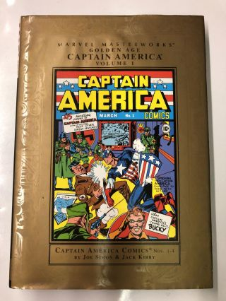 Marvel Masterworks Golden Age Captain America Comics 1. Joe Simon