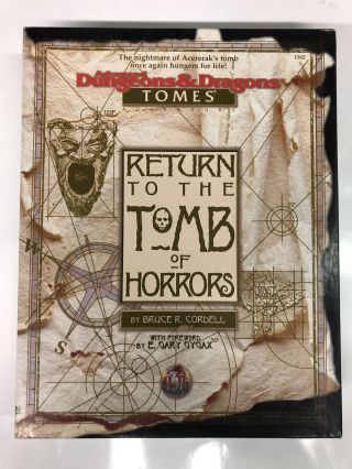 Return to the Tomb of Horrors (Advanced Dungeons & Dragons: Tomes). Bruce R. Cordell