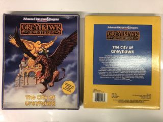 The City of Greyhawk (Advanced Dungeons and Dragons: Greyhawk Adventures) Boxed Set. Greyhawk TSR