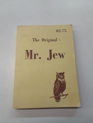 The Original Mr. Jew. Anonymous
