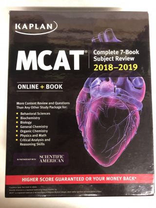 MCAT Complete 7-Book Subject Review 2018-2019. Kaplan Test Prep