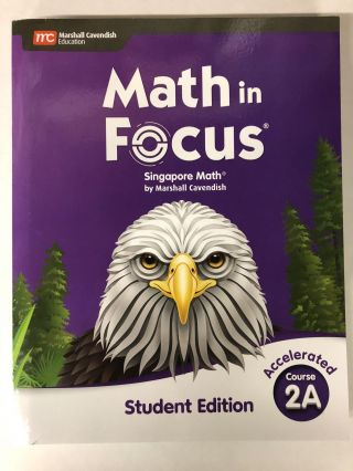 Math in Focus Accelerated Course 2A. Marshall Cavendish