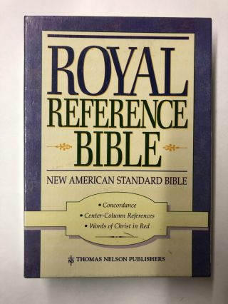 Holy Bible: New American Standard Royal Reference, No 775Bg/Burgundy Leather/Red Letter Edition
