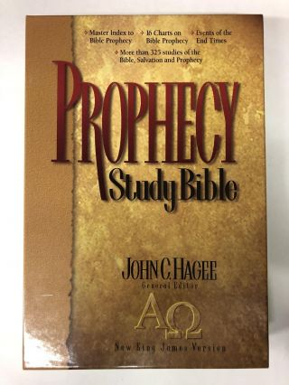 New King James Version Indexed Prophecy Study Bonded Leather Blue (Bonded Leather)