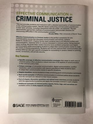 Effective Communication in Criminal Justice