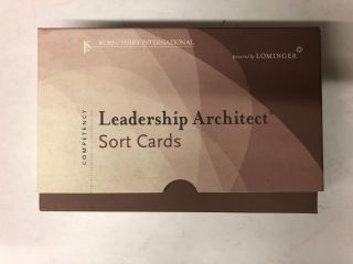 Leadership Architect Sort Cards. Mike Lombardo