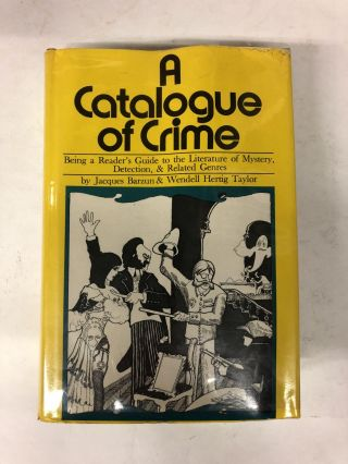 A Catalogue of Crime. Wendell Hertig