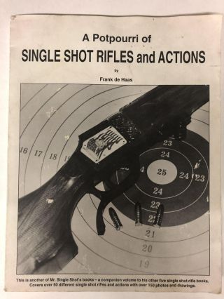 A potpourri of single shot rifles and actions. Frank De Haas
