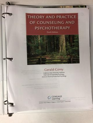 Theory and Practice of Counseling and Psychotherapy, Loose-leaf Version. Gerald Corey