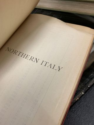 Northern Italy Including Ravenna, Florence and Pisa; Handbook for Travelers