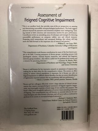 Assessment of Feigned Cognitive Impairment: A Neuropsychological Perspective