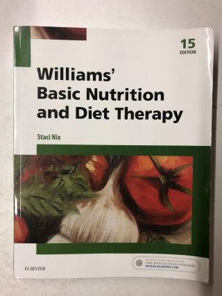 Williams' Basic Nutrition and Diet Therapy (Williams' Essentials of Nutrition & Diet Therapy)....