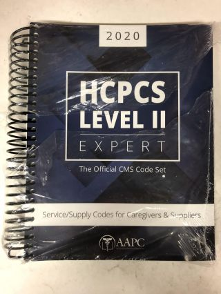 2020 HCPCS Level II Expert: Service/Supply Codes for Caregivers & Suppliers. Aapc