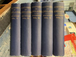History of England From the Accession of James II (5-vol. set). Thomas Babington Macaulay