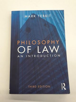 Philosophy of Law. Mark Tebbit