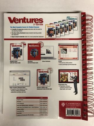 Ventures Level 1 Teacher's Edition with Assessment Audio CD/CD-ROM by Bitterlin, Gretchen, Johnson, Dennis, Price, Donna, Ramirez