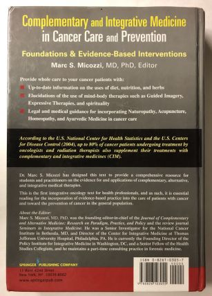 Complementary and Integrative Medicine in Cancer Care And Prevention: Foundations And Evidence-based Interventions