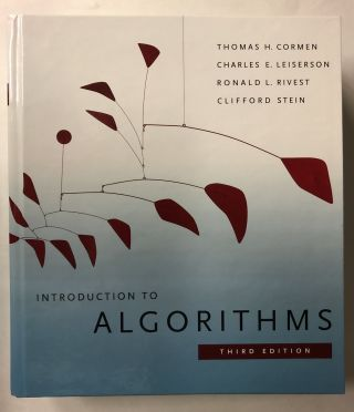 Introduction to Algorithms, 3rd Edition. Thomas H. Cormen
