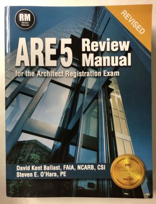 PPI ARE 5 Review Manual for the Architect Registration Exam (Revised, Paperback) –...