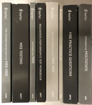 July 2019 February 2020 Barbri (8 Volume Set). Barbri