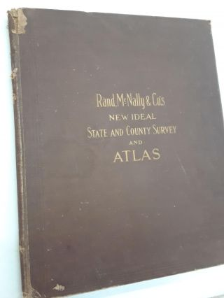 Rand, McNally & Co.'s New Ideal State and Country Survey and Atlas. McNally Rand, Co