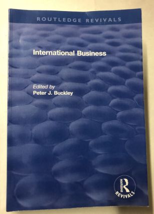 International Business. Peter Buckley