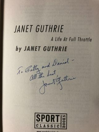 Janet Guthrie: A Life at Full Throttle