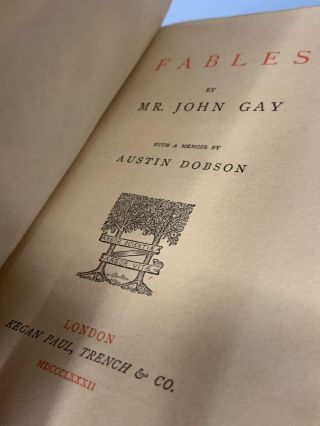 Gay's Fables: With a Memoir by Austin Dobson