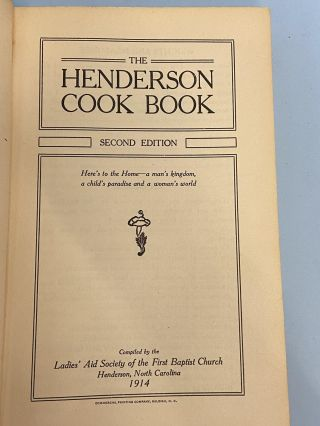 The Henderson Cook Book