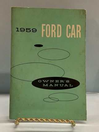 1959 Ford Car: Owner's Manual